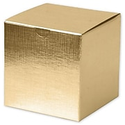 "Cardboard 4""H x 4""W x 4""L Gift Boxes, Gold, 100/Pack"