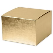 "Board 4""H x 6""W x 6""L Gift Boxes, Gold, 100/Pack"