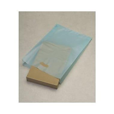 Sacs à articles à haute densité givrés, 14 x 3 x 21 (po), turquoise, 500/paquet