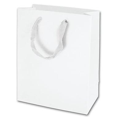 Sacs Eco Euro-Shoppers Manhattan mats plastifiés, 10 x 8 x 4 po, blanc, 100/paquet