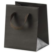 "Kraft Paper 6""H x 5""W x 4""D Manhattan Eco Euro-Shopper Bags, Espresso, 100/Pack"