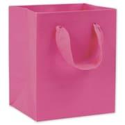 "6"" x 5"" x 4"" Matte Laminated Manhattan Eco Euro-Shoppers, Fuchsia"
