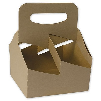 Bags & Bows® Food Service Cup Carrier, Kraft, 8-3/8