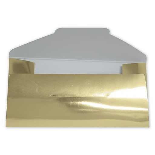 paper 6 5 h x 3 25 w solid gift certificate envelopes gold 200