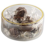 """Polyethylene 3.5""""Dia. x 1.38""""D Gift Boxes, Clear, 10/Pack"""