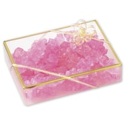 """Polyethylene 1.36""""H x 4.5""""W x 6""""L Gift Boxes, Clear, 25/Pack"""