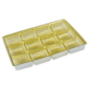 "Bags & Bows® 6 1/8"" x 4 1/2"" x 5/8"" Candy Tray, Gold, 25/Pack"