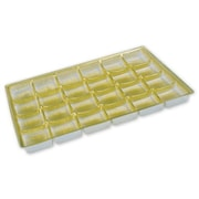 "Polyethylene Terephthalate 0.63""H x 6.13""W x 9.25""L Solid Candy Tray, Gold, 25/Pack"