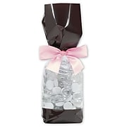 """Bags & Bows® 2"""" x 1 7/8"""" x 9 1/2"""" Solid Band Cello Bags, Brown, 100/Pack (65-DLN1-BRO)"""