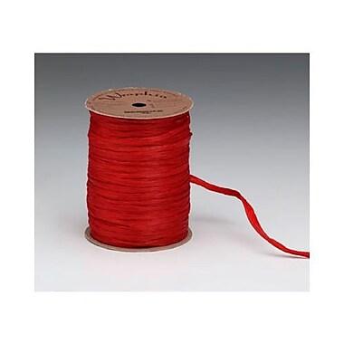 Ruban Wraphia, rouge impérial, rouleau/300 pi