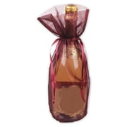 "Organza Fabric 15""H x 6.5""W Solid Wine Bags, Burgundy, 10/Pack"