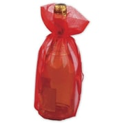 "Organza Fabric 15""H x 6.5""W Solid Wine Bags, Red, 10/Pack"