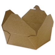 "Kraft Paper 2.5""H x 4.75""W x 6""L Food Containers, Brown, 300/Pack"