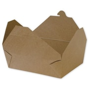 """Kraft Paper 2.5""""H x 5.5""""W x 7.75""""L Food Containers, Brown, 200/Pack"""