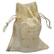 """Bags & Bows® 4 1/2"""" x 5 1/2"""" Natural Jute Bags, Brown, 24/Pack"""