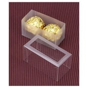 """2 3/4"""" x 1 3/8"""" x 1 3/8"""" Frosted Window Boxes, Crystal Clear"""
