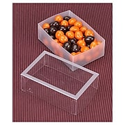 "Bags & Bows® 4 1/8"" x 2 3/4"" x 1 3/8"" Frosted Window Boxes, Crystal Clear, 20/Pack"