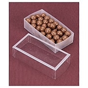"""Bags & Bows® 5 1/2"""" x 2 3/4"""" x 1 3/8"""" Frosted Window Boxes, Crystal Clear, 20/Pack"""