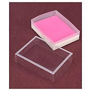 """Bags & Bows® 5 1/2"""" x 4 1/8"""" x 1 3/8"""" Frosted Window Boxes, Crystal Clear, 20/Pack"""