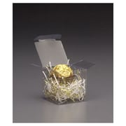 """PVC 2""""H x 2""""W x 2""""L One-Piece Food Boxes, Clear, 200/Pack"""