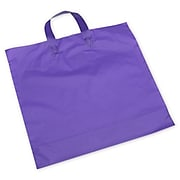 """Bags & Bows® 16"""" x 15"""" + 6"""" BG Frosted Economy Shoppers, 250/Pack"""