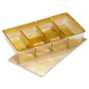 """6 1/4"""" x 3 1/2"""" x 1"""" Ballotin Tray, Gold"""