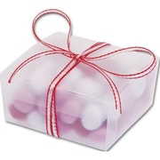 """1 1/4"""" x 2 1/2"""" x 2 5/8"""" Frosted Ballotin Boxes, Clear"""
