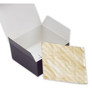 "Bags & Bows® 2 9/16"" x 2 11/16"" Ballotin Candy Pad, White/Gold, 200/Pack"