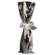 """Mylar 20""""H x 6.5""""W Solid Wine Gift Bags, Silver, 100/Pack"""
