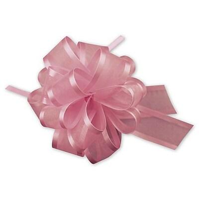 """4"""" Sheer Satin Edge Pull Bows, Pink"""