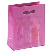 """Bags & Bows® 8"""" x 4"""" x 10"""" Cotton Candy Jelly Bags, Pink, 250/Pack"""