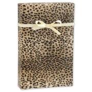 """24"""" x 417' Leopard Gift Wrap, Black/Tan"""
