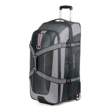 High Sierra 32 Inch Expandable Wheeled Duffel with Backpack Straps, Grey