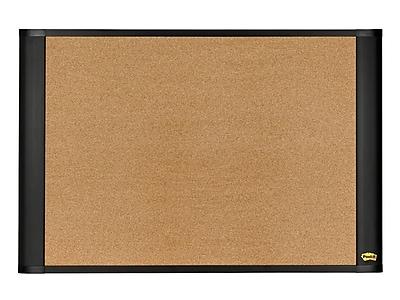 Post-it® Sticky Cork Board, Widescreen Graphite-Finish Frame, 48