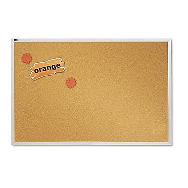 Quartet® Natural Cork Bulletin Board, Silver Aluminum Frame, ...