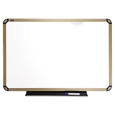 Quartet® Prestige Plus® Premium 4'(H) x 8'(W) Porcelain On Steel Whiteboard, Dark Graphite Gray Frame