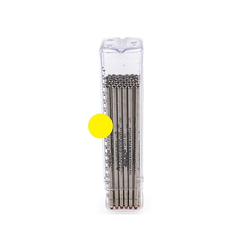 Monteverde® Superbroad 1.4 mm Mini D-1 Ballpoint Refill, Yellow, 50/Pack