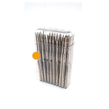 Monteverde® Medium Soft Roll Ballpoint Refill For Montblanc Pens, Orange, 50/Pack