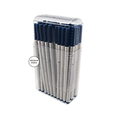 Monteverde® Medium Rollerball Refill For Montblanc Rollerball Pens, Blue/Black, 50/Pack