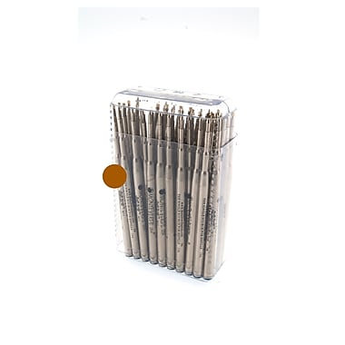 Monteverde® Medium Ballpoint Refill For Waterman Ballpoint Pens, Brown, 50/Pack