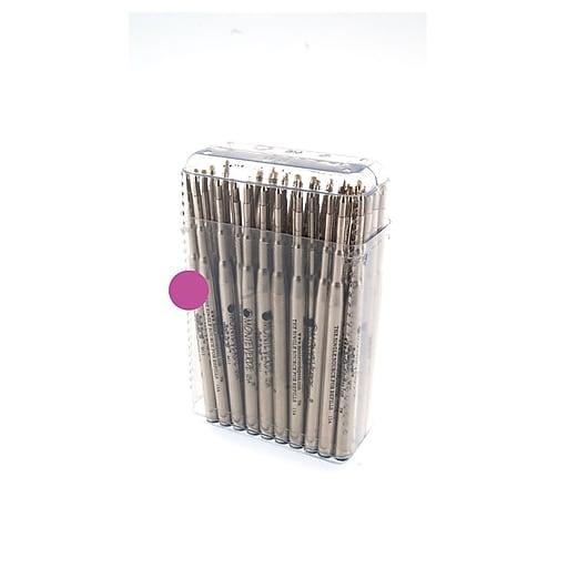 Monteverde® Medium Ballpoint Refill For Waterman Ballpoint Pens, Pink, 50/Pack