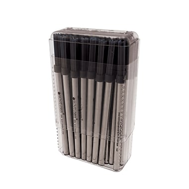 Monteverde® Broad Ceramic Rollerball Refill For Waterman Rollerball Pens, Black, 50/Pack