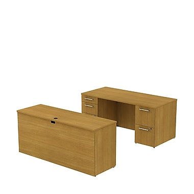 Bush 300 Series Double Pedestal Desk with 66