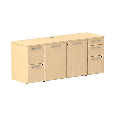 Bush 300 Series Storage Credenza, Natural Maple