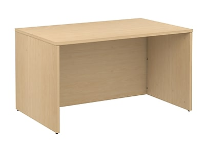 Bush Business 300 Series 48W Shell Desk, Natural Maple, Installed