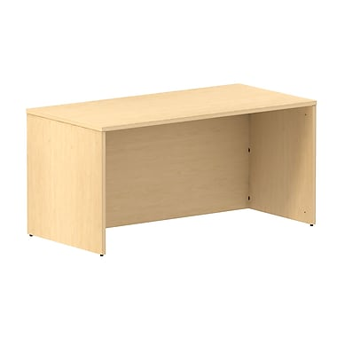 Bush Business 300 Series 60W Shell Desk, Natural Maple, Installed