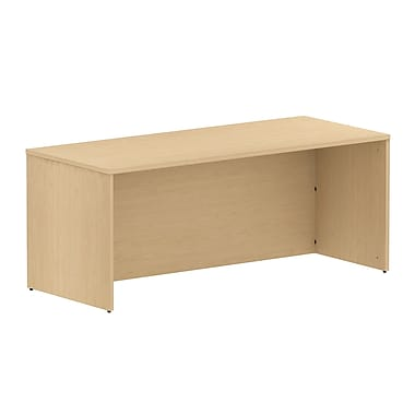 Bush Business 300 Series 72W Shell Desk, Natural Maple, Installed