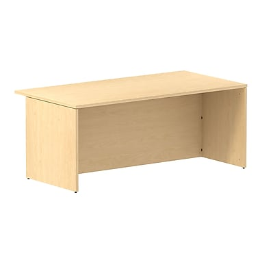 Bush Business 300 Series 72W Conference Shell Desk, Natural Maple, Installed