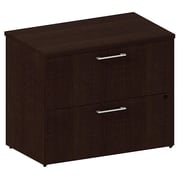 Bush Business 300 Series 36W 2-Drawer Lateral File, Mocha Cherry, Installed
