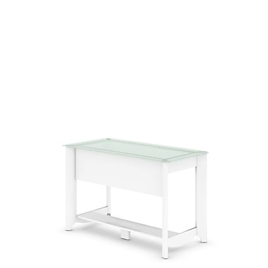 Bush – Bureau d'écriture de la collection Aero, fini blanc pur
